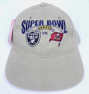 32269516 Details about Super Bowl 37 XXXVII Strapback hat cap Oakland Raiders Tampa  Bay Bucs Reebok NWT