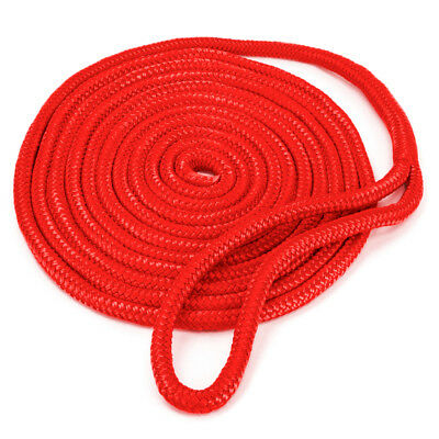 "Dock Line Red Double Braided Nylon 3//8/"" x 15/'"