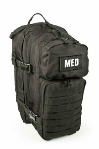 ELITE FIRST AID TACTICAL TRAUMA KIT #3 STOCKED BACKPACK MEDICAL SURVIVAL BLK RED