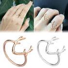 Reindeer Deer Antler Horn Opening Adjustable Mid Toe Ring Jewelry Exquisite