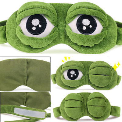 Sad frog 3D Adjustable Eye Mask Cover Sleeping Mask Eyepatch Rest With Ice Packs