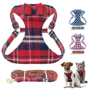 Adjustable-Dog-Harness-Lead-Cute-Bowtie-Soft-Mesh-Padded-Vest-for-Pet-Puppy-Cat