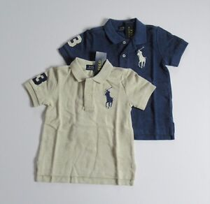 NWT-Ralph-Lauren-Boys-S-S-Classic-Big-Pony-Solid-Mesh-Polo-Shirt-Sz-5-6-7-NEW