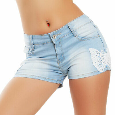 Pantaloncini donna jeans shorts hot pants denim pinup sexy TOOCOOL A1313