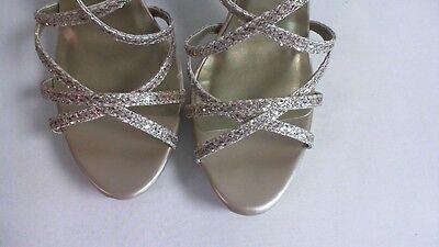 Nuevos Zapatos de boda Dyeables-champán Glitter-Bryce-US 11B Reino Unido 9 #8R260