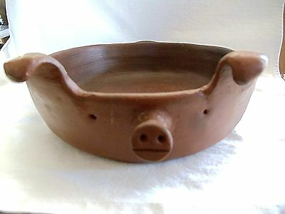 ACTU Chile Pomaireware Oval Pig Baking Hog Casserole Dish Andes Pottery Pan