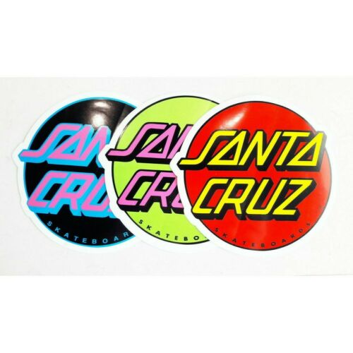 Santa Cruz Skateboards Stickers 5 Pack Classic Dot Skate decal
