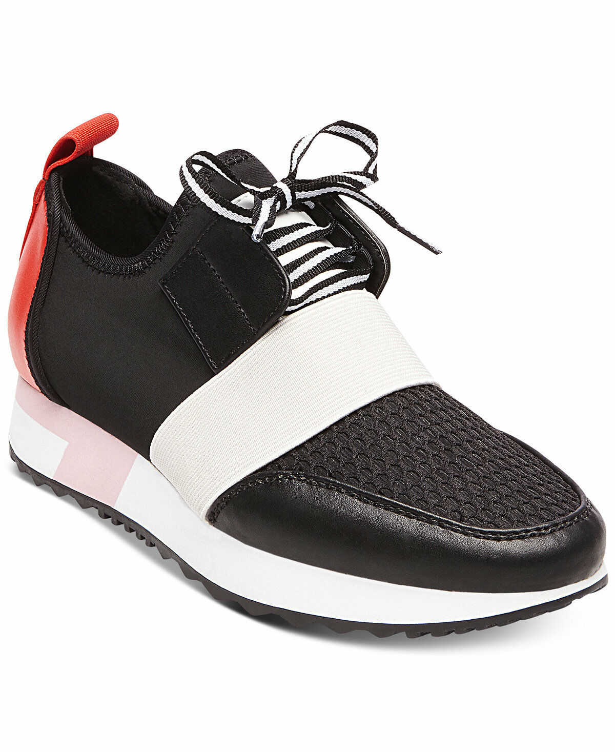 Steve Madden Antics Sneakers Athleisure Sporty shoes Black Red Multi Size 6.5