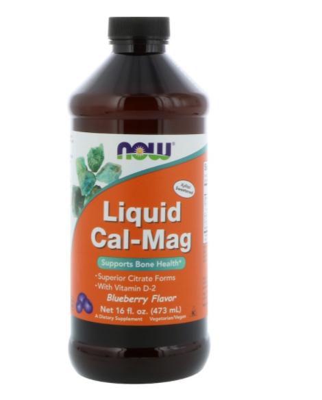 NEW NOW FOODS LIQUID CALCIUM & MAGNESIUM HEALTH BODY DIETARY SUPPLEMENT CARE