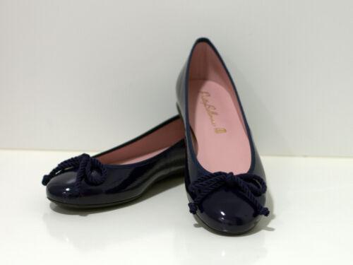 Prettyballerinas Nicole-Classique Ballerine noir-cuir grande boucle