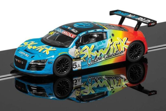 1:32 Scalextric Slot Car Audi R8 LMS #5A Skwirk Rod Salmon 2014 Bathurst 12 Hour
