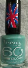 Rimmel 60 Second Nail Polish #835 Bright Back At You Mint Green Shimmer Lacquer