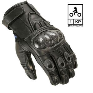 Motorradhandschuhe Leder sportlich kurz Handschuhe  schwarz//Grün M XXL