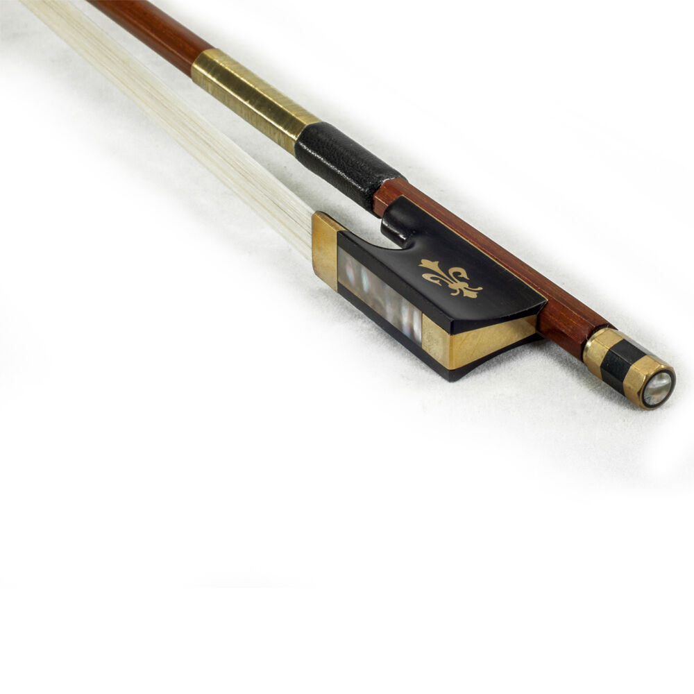 High Quality New 4 4 Größe Violin Bow Brazilwood Fully-Line Abalone Gold Wrap
