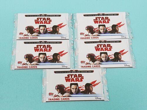 Topps Star Wars 2017 die letzten Jedi 5 Booster 25 Trading Cards