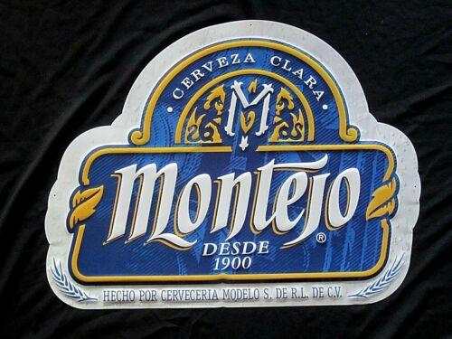 NEW Montejo Cerveza Clara Tin Beer Sign Mexico Brewery Modelo Cantina Man Cave