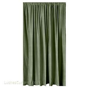 vert panneau rideau en velours long th tre sc ne att nuation de son ebay. Black Bedroom Furniture Sets. Home Design Ideas