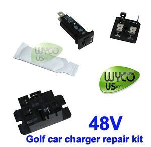 1996 club car 48v wiring diagram battery charger repair kit for club car,golf car,48v ... #13