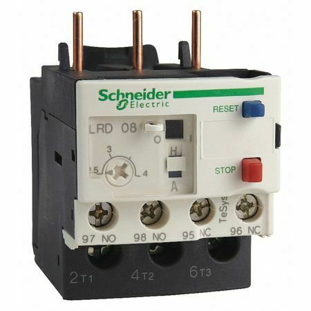 SCHNEIDER ELECTRIC LRD02 Overload Relay,0.16 to 0.25A,3P,Class 10