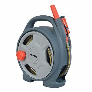 Image Is Loading Pope SMALL GARDEN HOSE REEL 8mmx10m HOSE Connectors