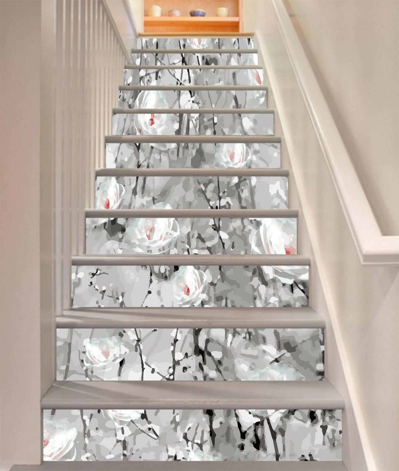 3D bluemenmalerei 24 Stair Risers Dekoration Fototapete Vinyl Aufkleber Tapete DE