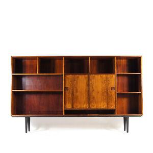 Retro Vintage Danish Modern Huge Rosewood Bookcase Sideboard Cabinet 60s 70s