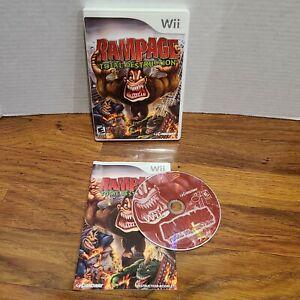 Nintendo Wii Rampage Total Destruction Nintendo Game  CIB Complete