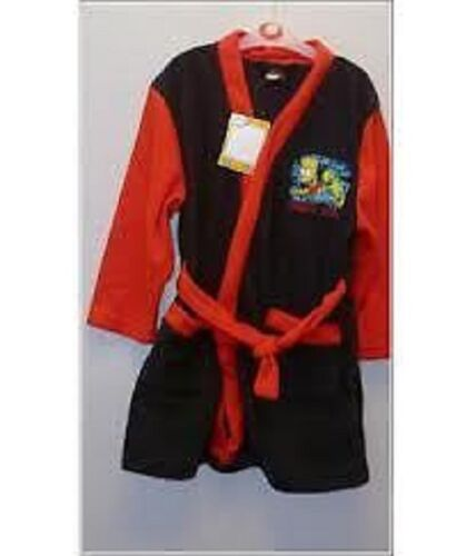 Boys Bart Simpson Dressing Gown Bathrobe new blue red THE SIMPSONS children/'s