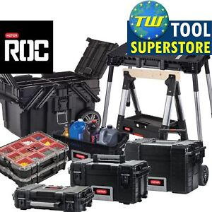 Keter-ROC-Heavy-Duty-Pro-Gear-mobile-outil-stockage-Toolboxes-organisateurs-cas