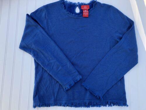 Sweater La Fringe Oscar Angora Cashmere Xl Silke Blå Renta De g5xz5wUq8