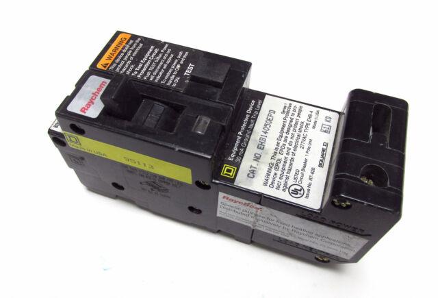 Raychem GFI Circuit Breaker 277v 30A 30 Amp EHB14030EPD Sigle Pole Square D Rare