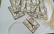 New 50 Paris Cream Color Card Stock Ephemera Retail Price Tags Gift Bag Tags