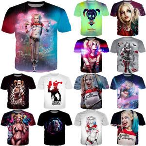30ff64a32ec2 Harley Quinn Women Men Suicide Squad Joker Print 3D T-Shirt Casual T ...