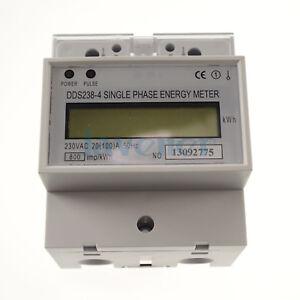 230V-60hz-20A-to-100A-Single-Phase-DIN-rail-Type-Kilowatt-Hour-kwh-Meter