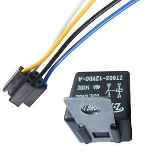 Car-Auto-Truck-Alarm-12V-Volt-DC-40A-AMP-Relay-amp-Socket-SPST-4Pin-4-Wire-Sales