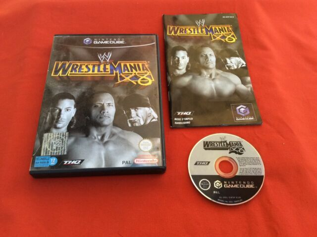 WRESTLE MANIA X8 WORLD WRESTLING ENTERTAINMENT NINTENDO GAMECUBE GC PAL COMPLET