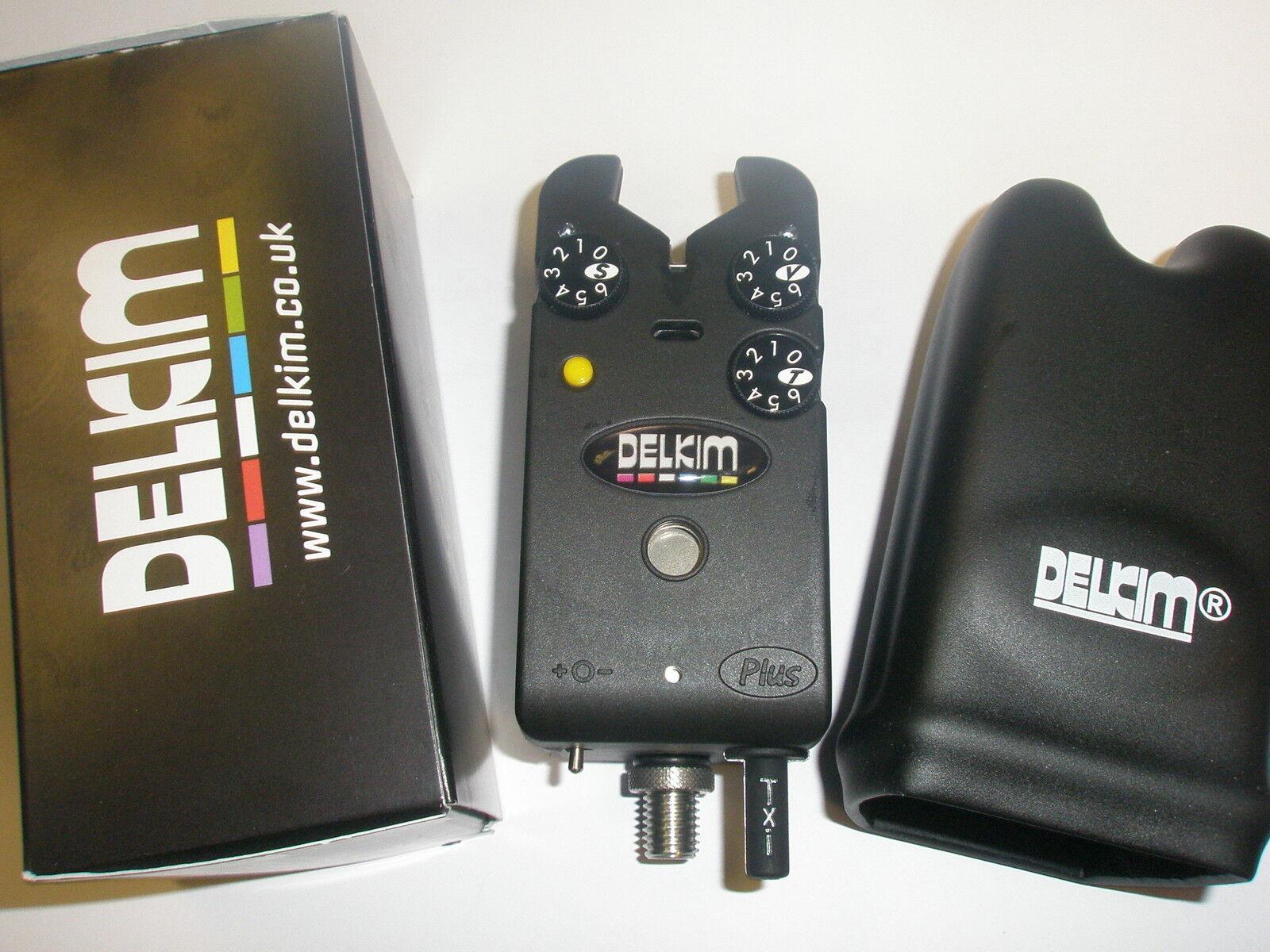 Delkim TXi Plus Electronic Bite Alarm YELLOW Carp fishing tackle