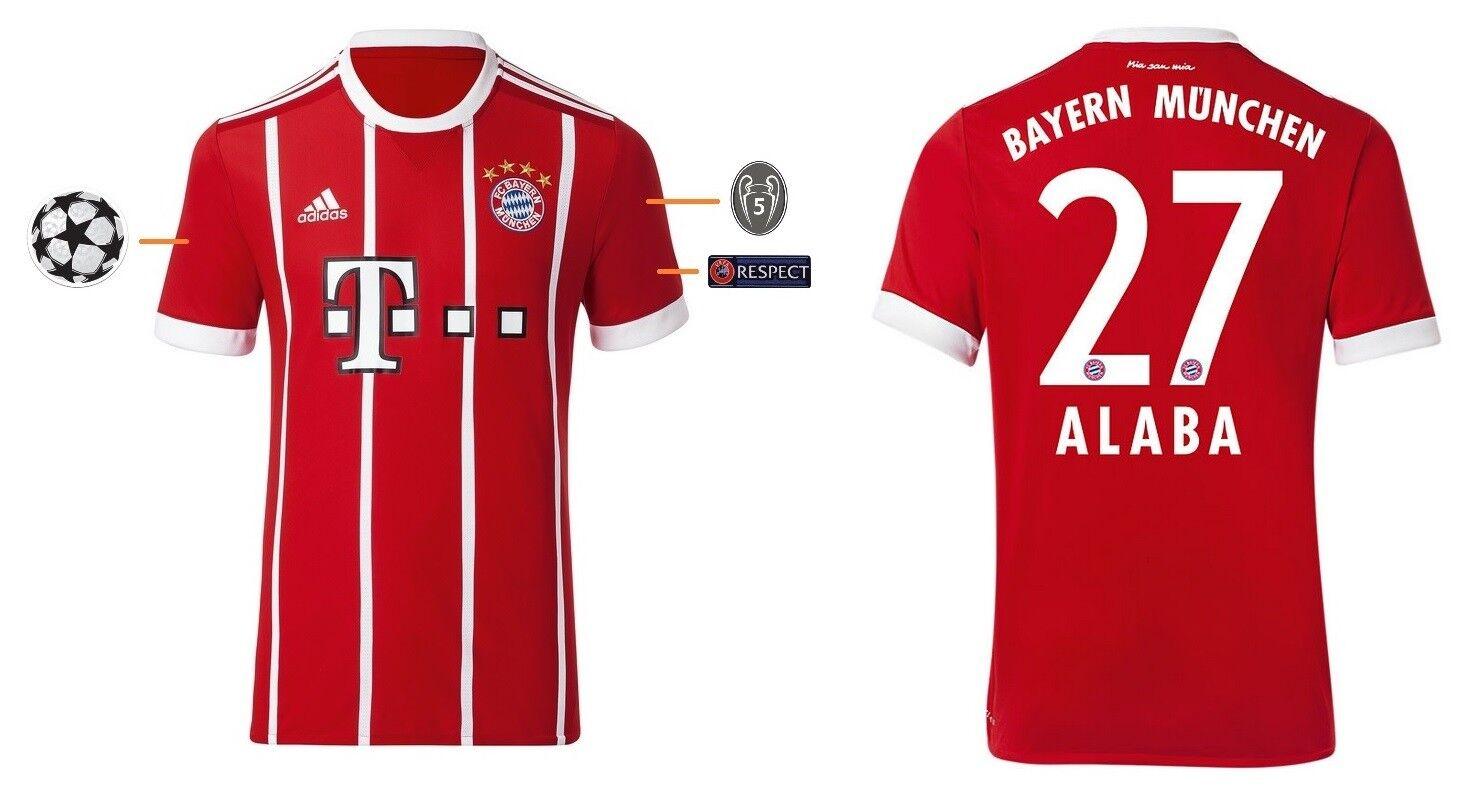 Trikot FC Bayern 2017-2018 Home UCL - Alaba 27  Champions League