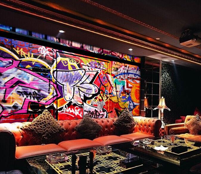 3D Street graffiti 1 WallPaper Murals Wall Print Decal Wall Deco AJ WALLPAPER