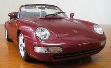 BBURAGO Porsche 911 Carrera 4 Cabrio Cabriolet weinrot (1993) Scale 1:18