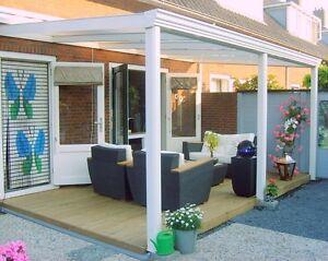 Terrassendach Aluminium 5 x 4,5 ALU weiß Terrassenüberdachung OPAL ...