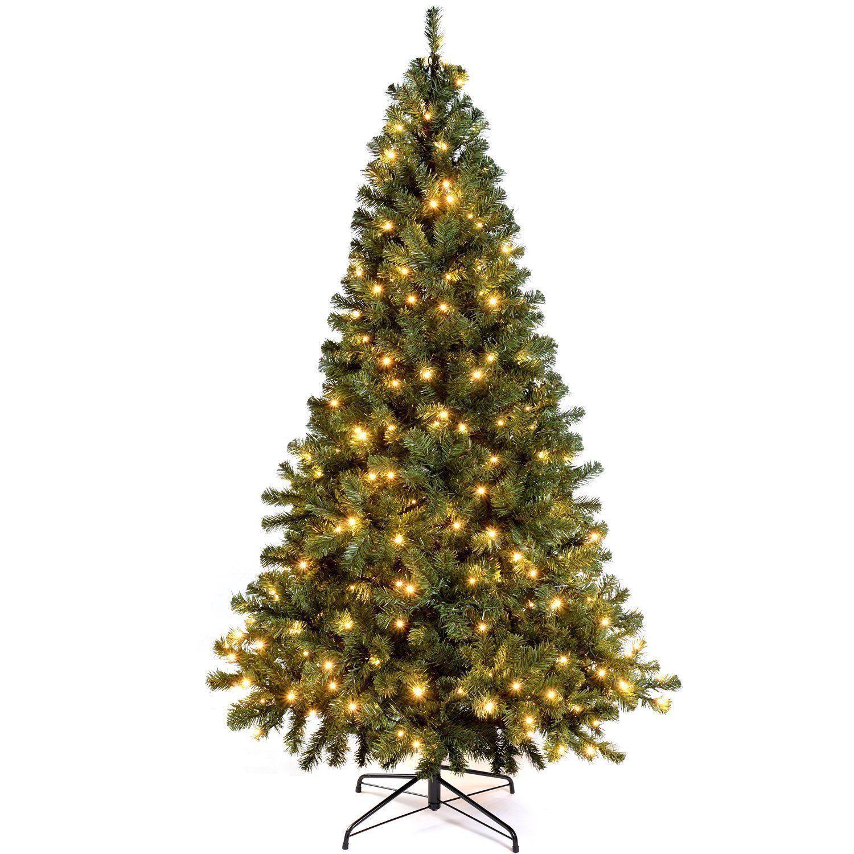 NUOVO CANADESE verde Abete pre-illuminato albero di di di Natale luci LED bianco caldo 6FT&7FT 32560d