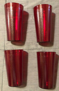 Cambro Colorware 16 oz Tumblers - Ruby Red - Lot of 24