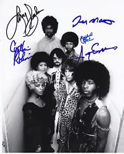 Sly & the Family Stone signed 8 x 10 by 5 in person