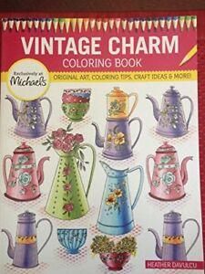 Michaels Vintage Charms Coloring Book Original Art Coloring Tip And