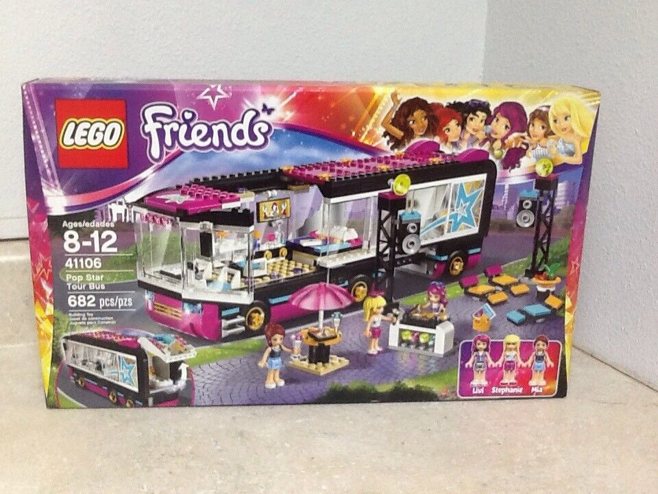 LEGO Friends 41106 Popstar Tour Bus with 3 minifigs