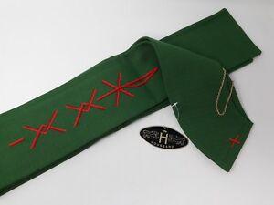 Houssard-Vintage-Frances-Clerigo-Estola-Hecho-a-Mano-Chi-Rho-Px-Bordado-Emblema