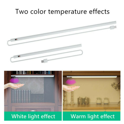 LED Wall Light Bar Under Cabinet Counter Dimmable Smart Motion Sensor Night Lamp