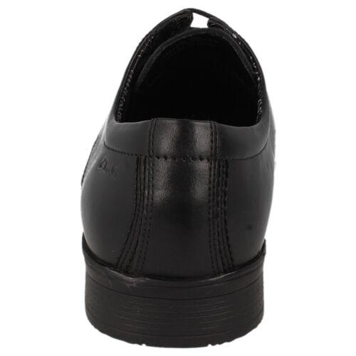 Clarks pour homme en cuir noir à lacets chaussures g montage Aze jour