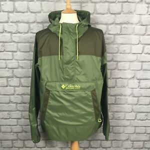 Xl Mens Columbia cappuccio Lightweight giacca Challenger Green con Uk Packable daawqE
